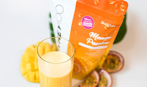 Bodylab Whey 100 (1 kg) - Mango Passion + Mini Shaker